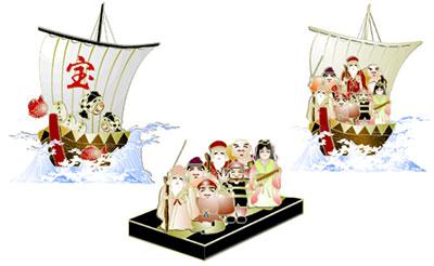 伝統的な年賀状イラストを提供